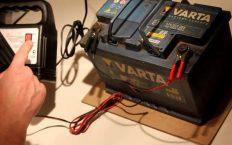 Зарядка АКБ с помощью ЗУ