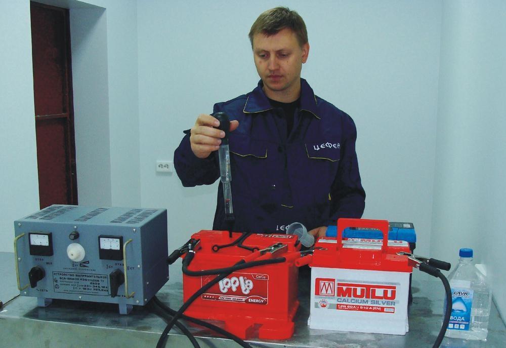 Проверка уровня электролита в АКБ