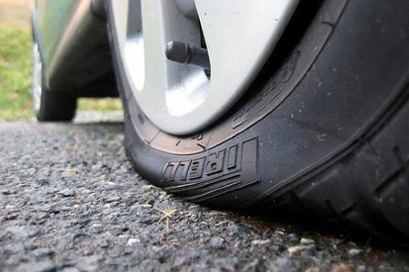 Слишком спущенная шина