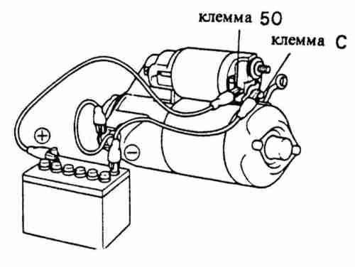 Схема проверки втягивающего реле