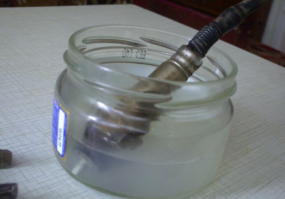 Очистка лямбда зонда кислотой