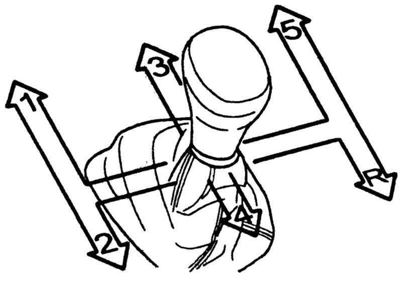 R - задняя передача на МКПП
