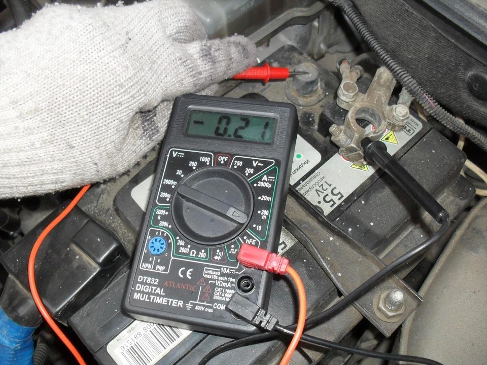 Поиск тока утечки аккумулятора