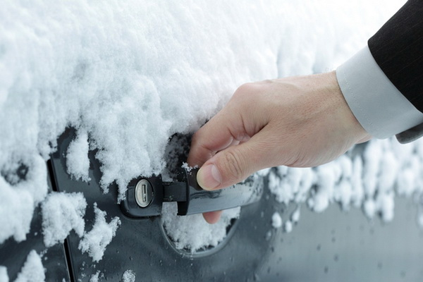 Замерзание замка в машине