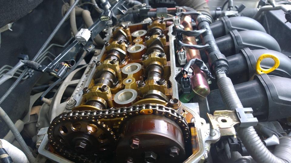 Двигатель после использования синтетики
