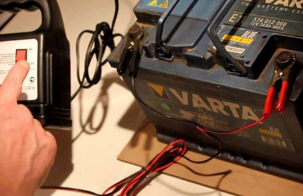 Зарядка аккумулятора с целью десульфатации