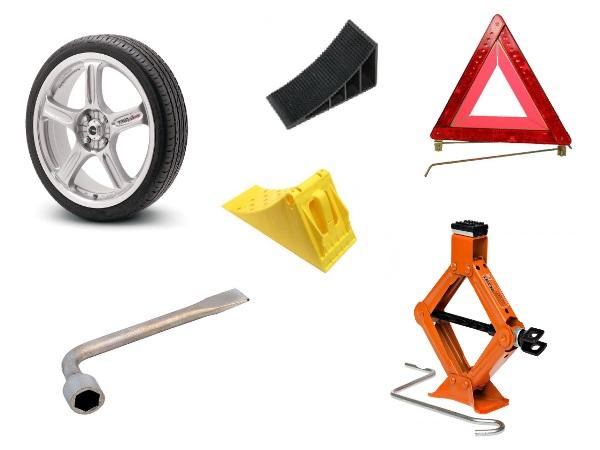 Инструменты для замены колеса