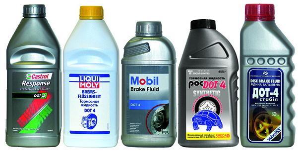 Тормозная жидкость разных брендов