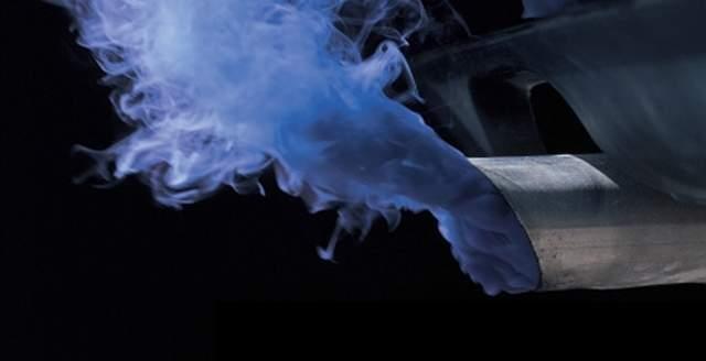 Синий выхлоп