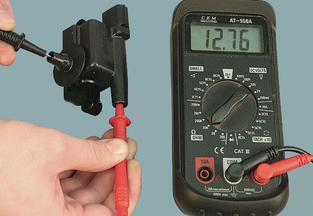 Измерение сопротивления катушки зажигания