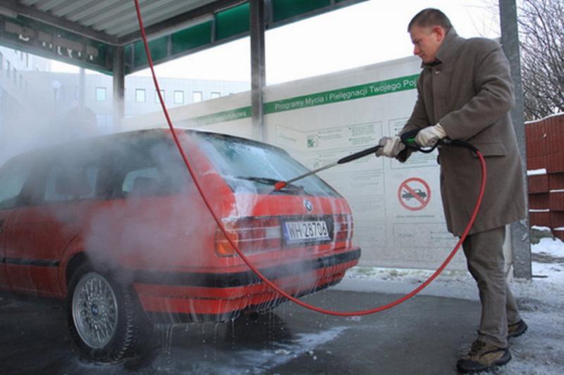 Помывка автомобиля зимой