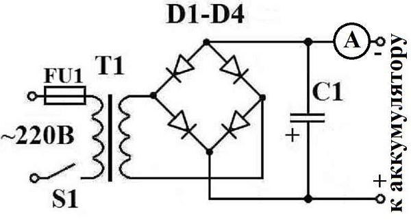 Схема зарядного устройства для АКБ