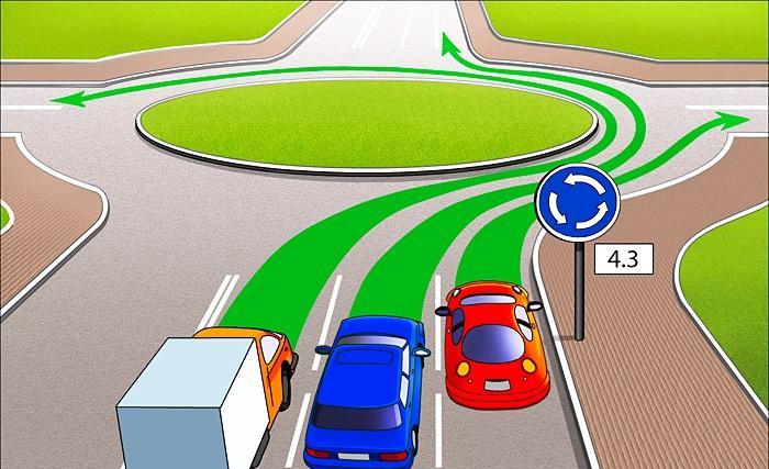 Перекрёсток с круговым движением