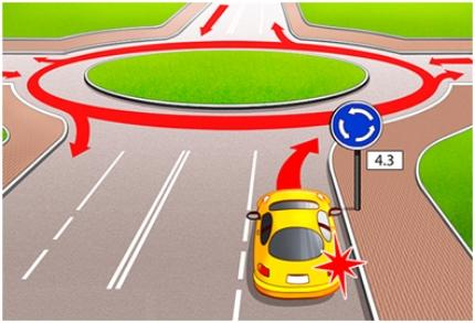 Сигнал правого поворота при съезде с кольца