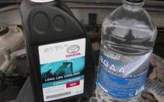 Разбавление антифриза водой