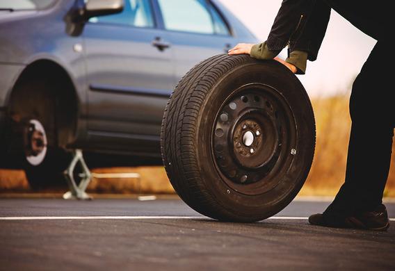 Снятое колесо