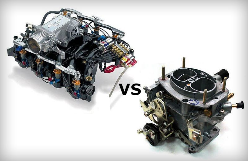 Отличие карбюраторного двигателя от инжекторного