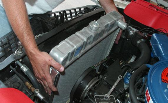 Снятие радиатора с автомобиля