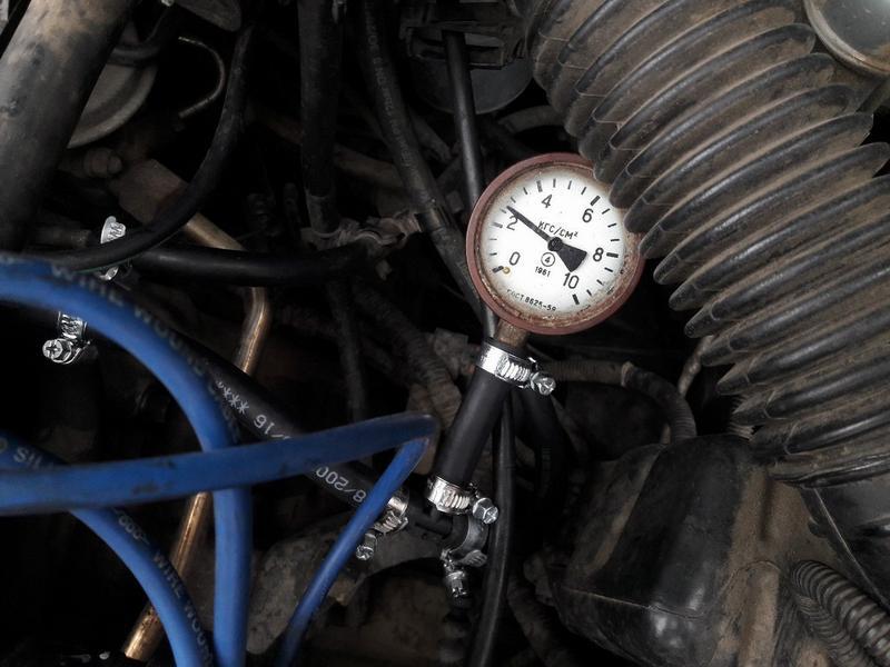 Измерение давления в топливной рампе