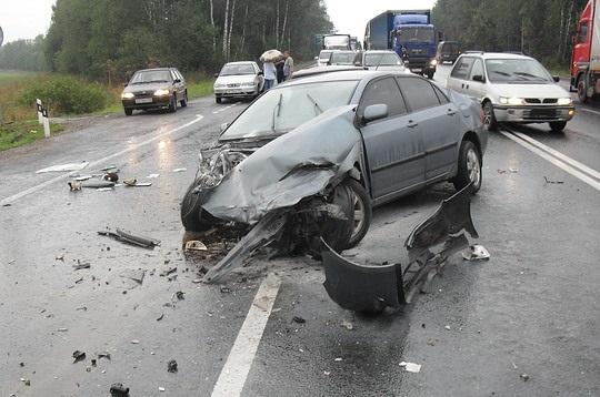 Авария при выезде на встречку