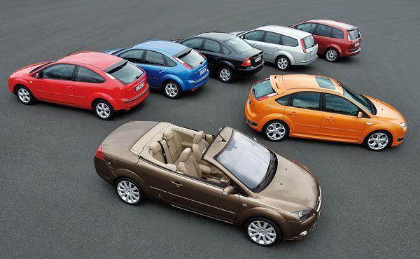 Автомобили с различными кузовами