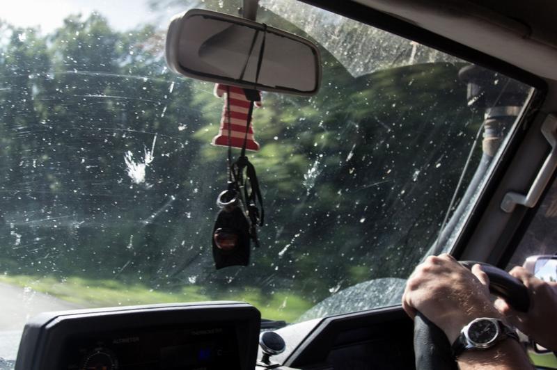 Загрязненное лобовое стекло