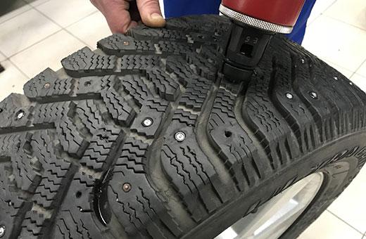 Ошиповка шины