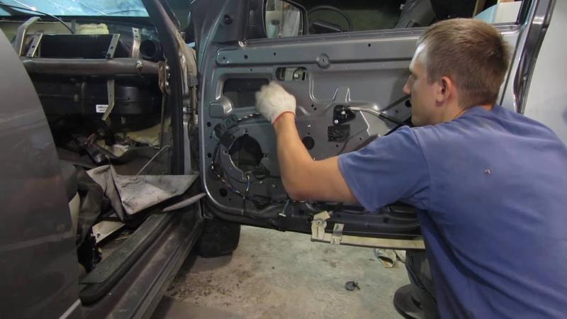 Процесс замены элетродвигателя