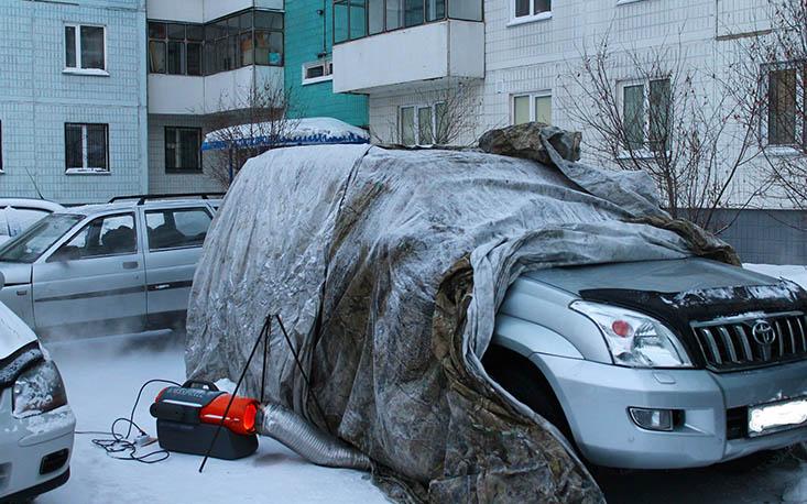 Как отогреть машину в мороз