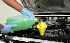 чем промыть систему охлаждения двигателя от масла