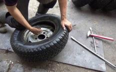Как разбортировать колесо своими руками