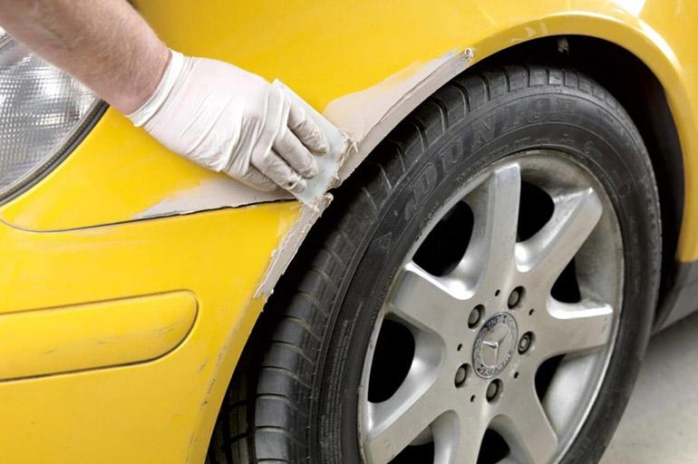 Использование автомобильной шпаклевки
