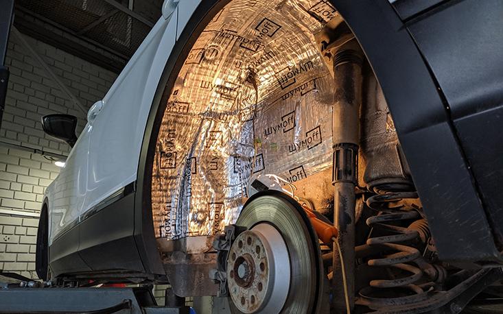 Шумоизоляция колесных арок своими руками