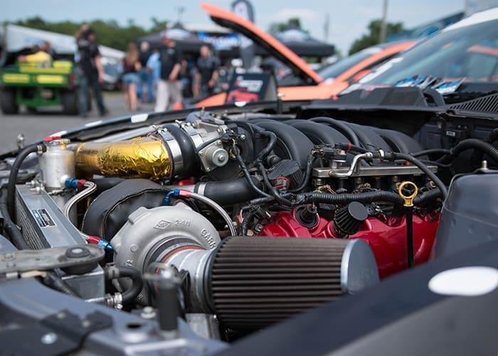 Турбированный двигатель в машине